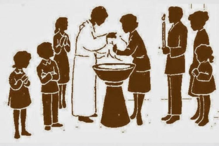 """""""Banhados em Cristo, somos uma nova criatura"""" (Cf. Gl 3,27)"""