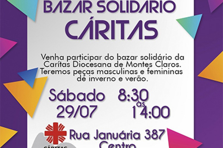 Bazar Solidário da Cáritas Arquidiocesana de Montes Claros