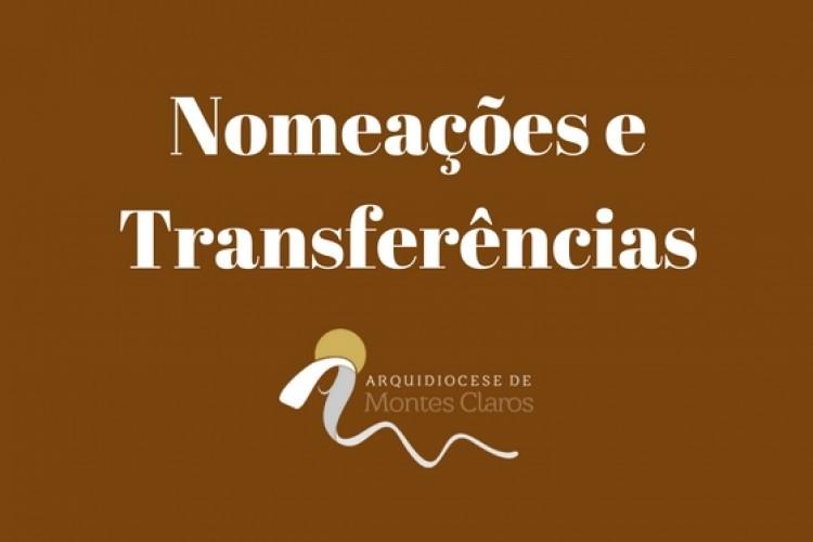 Nomeações e transferências